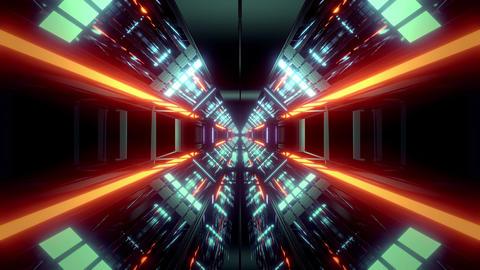 futuristic science-fiction tunnel corridor 3d illustration background wallpaper Animation