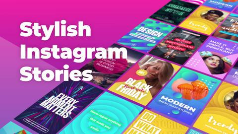 Instagram Stories モーショングラフィックステンプレート