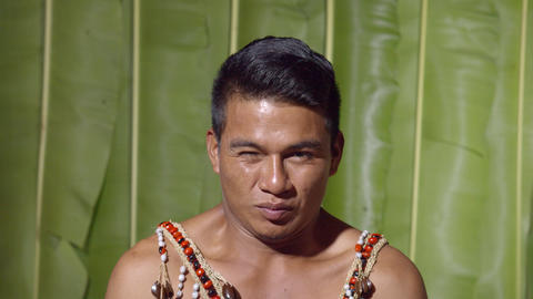 Adult Man Facial Expression Expressing Disgust In Ecuador Footage