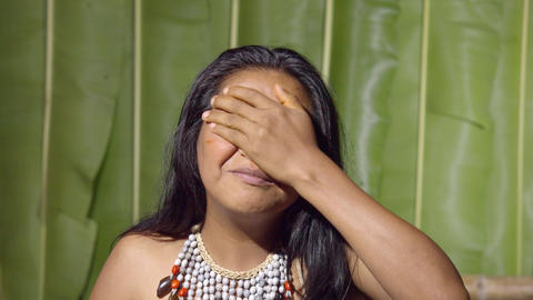 Frustration Gesture Demonstrated By A Young Girl In Ecuador Live Action