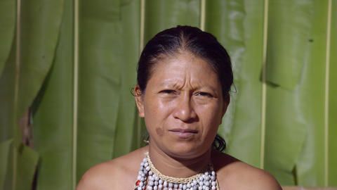 Woman Facial Expression Expressing Disgust In Ecuador Footage