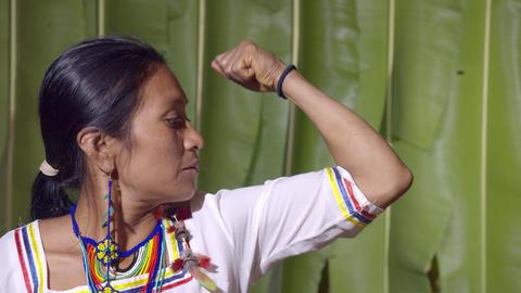 Muscular Woman In Ecuador Live Action