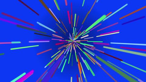 カラフルな光線のようなパーティクル素材 CG動画