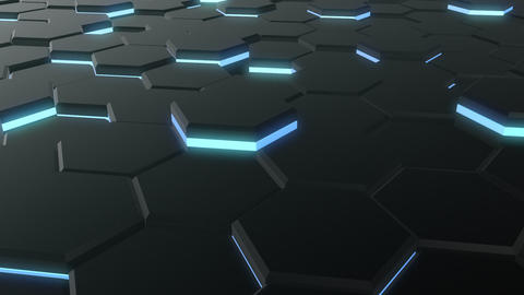 3D-HEX (black, blue). HD, seamless loop CG動画