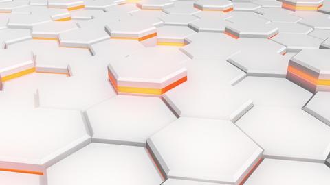 3D-HEX (white, orange). HD, seamless loop CG動画