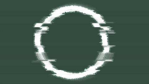 Abstract glitch effect white circle video animation Animation
