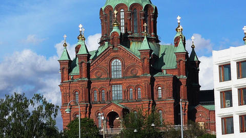 Assumption Cathedral in Helsinki Footage