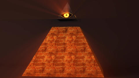4K All Seeing Eye of God Pyramid Illuminati Symbol 1 Animation