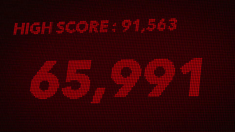 4K Hit High Score and Game Over Retro Video Game Display 2 Stock Video Footage