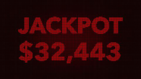 4K Quickly Reaching 50000 USD Jackpot Retro Gambling… Stock Video Footage
