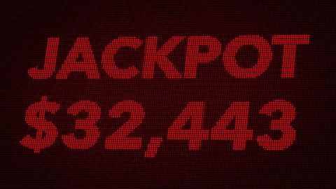 4K Quickly Reaching 50000 USD Jackpot Retro Gambling Machine Display 2 Animation
