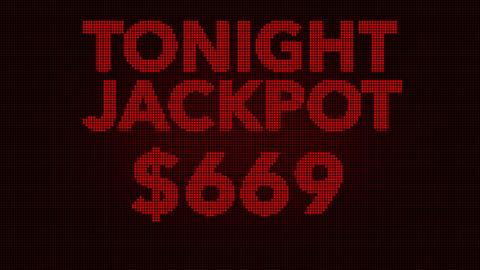 4K Winning 1000 USD Jackpot Retro Gambling Machine Display 1 Animation