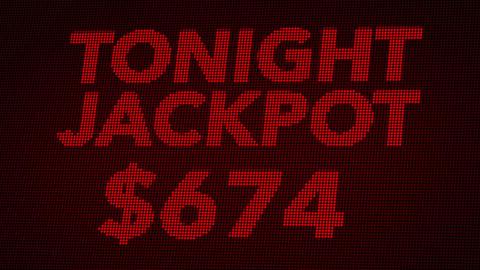 4K Winning 1000 USD Jackpot Retro Gambling Machine Display 2 Animation