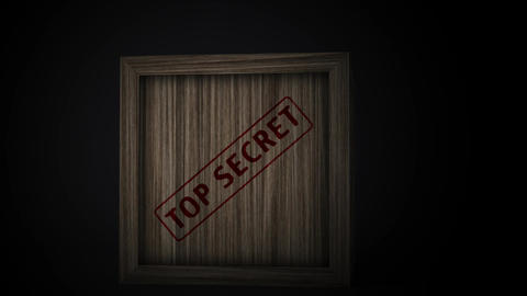 4K Top Secret Wooden Crate 2 Animation