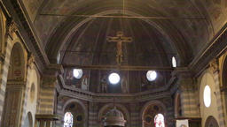 In italy the old inside church altar 09 Footage