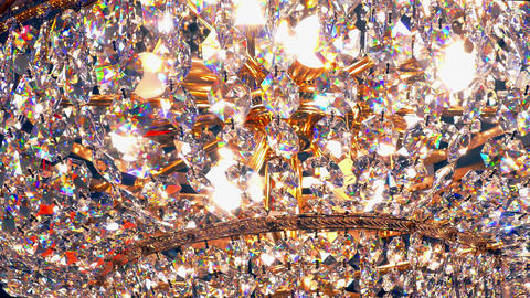 1080p Crystal Chandelier on and Off Footage