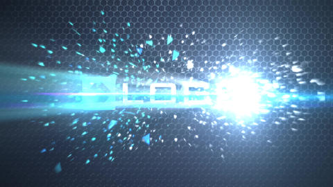 Light Shatter Particles Explosion Logo Reveal - Corporate Business 3D Logo Intro After Effects Template