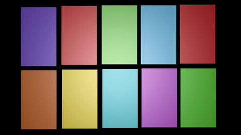 Multicolored 3d frames on black background, video background with 3d boxes Animation