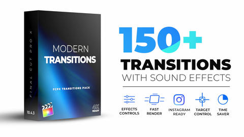 Modern Transitions Apple Motion Template