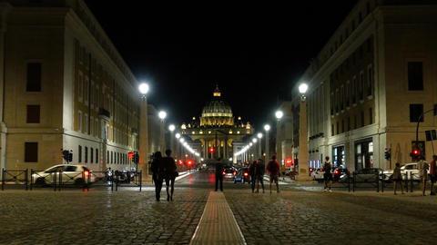Main facade of the Basilica of San Pietro, Vatican. Rome Footage