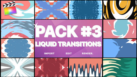 Liquid Transitions Pack 03 Apple Motion Template