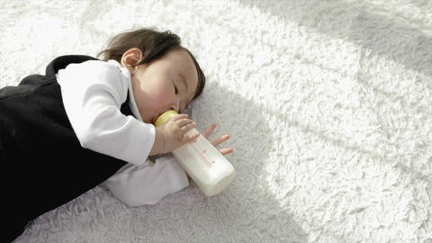 Milk drinking baby Live Action