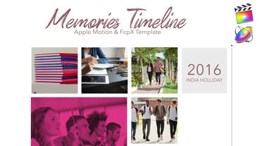 Memories Timeline Apple Motion Template
