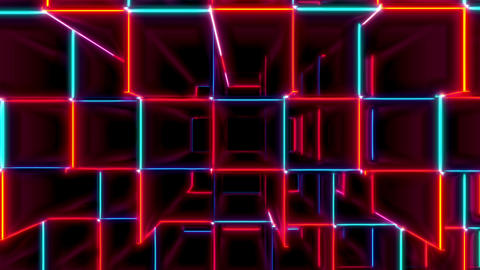 VJ Loops Collection Red And Blue Cubes 1