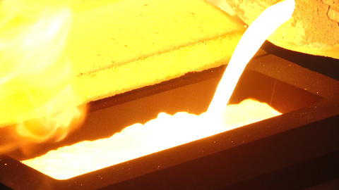 manufacture of gold bars from gold in a special production Live Action