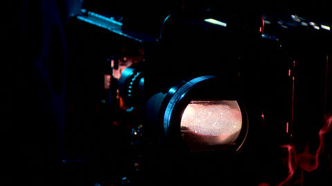cinema film in a movie camera Live Action