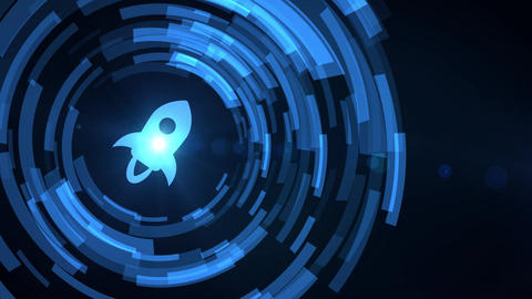stellar lumens cryptocurrencyicon animation white digital elements technology background Animation