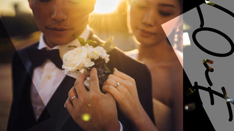 Urban Wedding Opening Movie/Monotone Color Slideshow After Effectsテンプレート