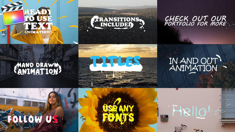 2d Lyric Titles Apple Motion Template