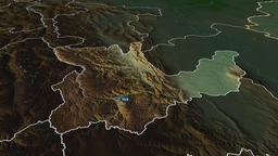 Huanuco - region of Peru. Physical Animation