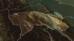 Junin - region of Peru. Physical Animation