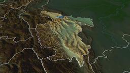 San Martin - region of Peru. Physical Animation