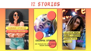 Summer Instagram Stories After Effects Template
