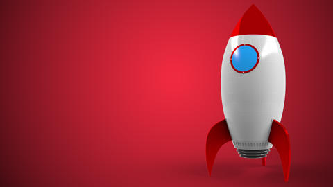 Logo of YOUTUBE on a toy rocket. Editorial conceptual success related animation Live Action