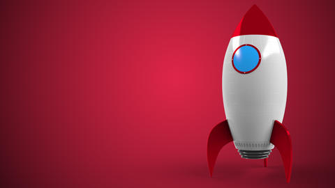 TARGET logo against a rocket mockup. Editorial conceptual success related Live Action