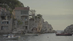 The Town Of Milocer. Shore of the Adriatic sea. The Balkans Footage