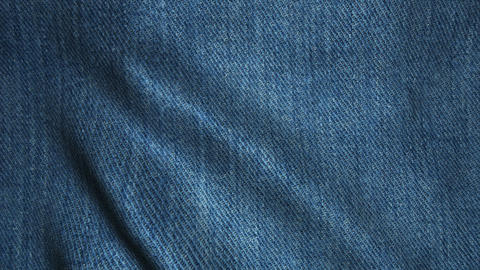Realistic Ultra-HD jeans cloth waving in the wind. Seamless loop with highly det Animation