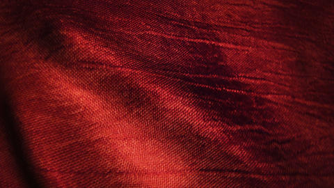Red silk fabric blowing in the wind Animation