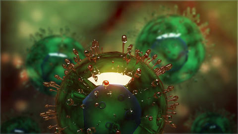 H5N1 virus with glassy structure Animation