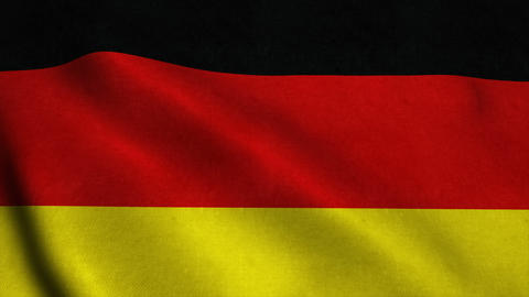 Realistic Ultra-HD flag of the Germany waving in the wind. Seamless loop with hi Animation