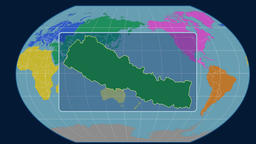 Nepal - 3D tube zoom (Kavrayskiy VII projection). Continents Animation