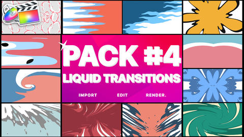Liquid Transitions Pack 04 Apple Motion Template
