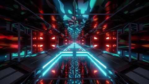 camouflage army space tunnel background wallpaper 3d rendering vj loop Animation