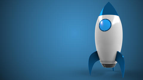 Logo of PHILIPS on a toy rocket. Editorial conceptual success related animation Live Action