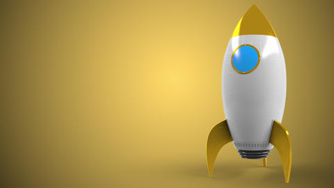 Logo of MCDONALD'S on a toy rocket. Editorial conceptual success related Live Action