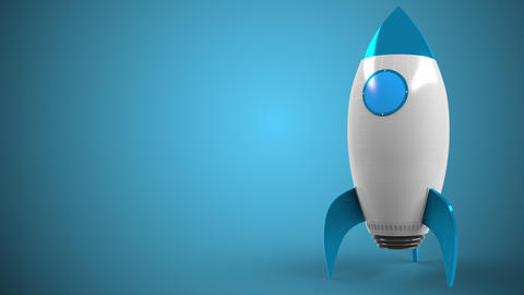 Logo of BARCLAYS on a toy rocket. Editorial conceptual success related animation Live Action